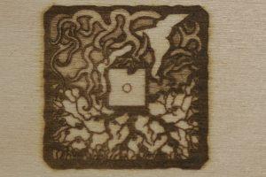erste Stempelgravur